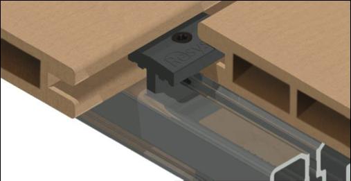 T-Clip 2 Resysta planks