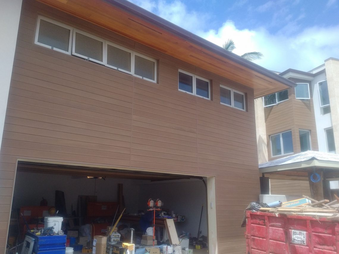 Siding made with Resysta