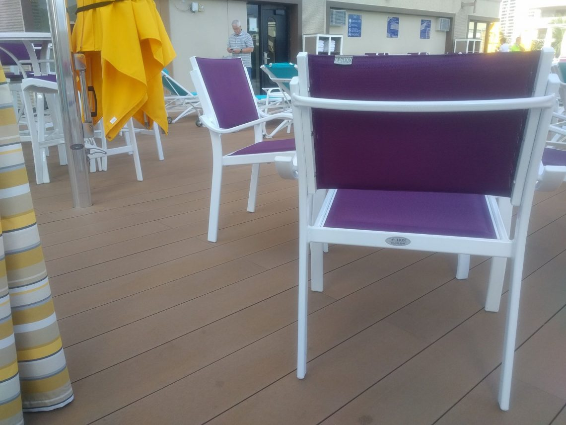 Beautiful Decking at Hotel terrace