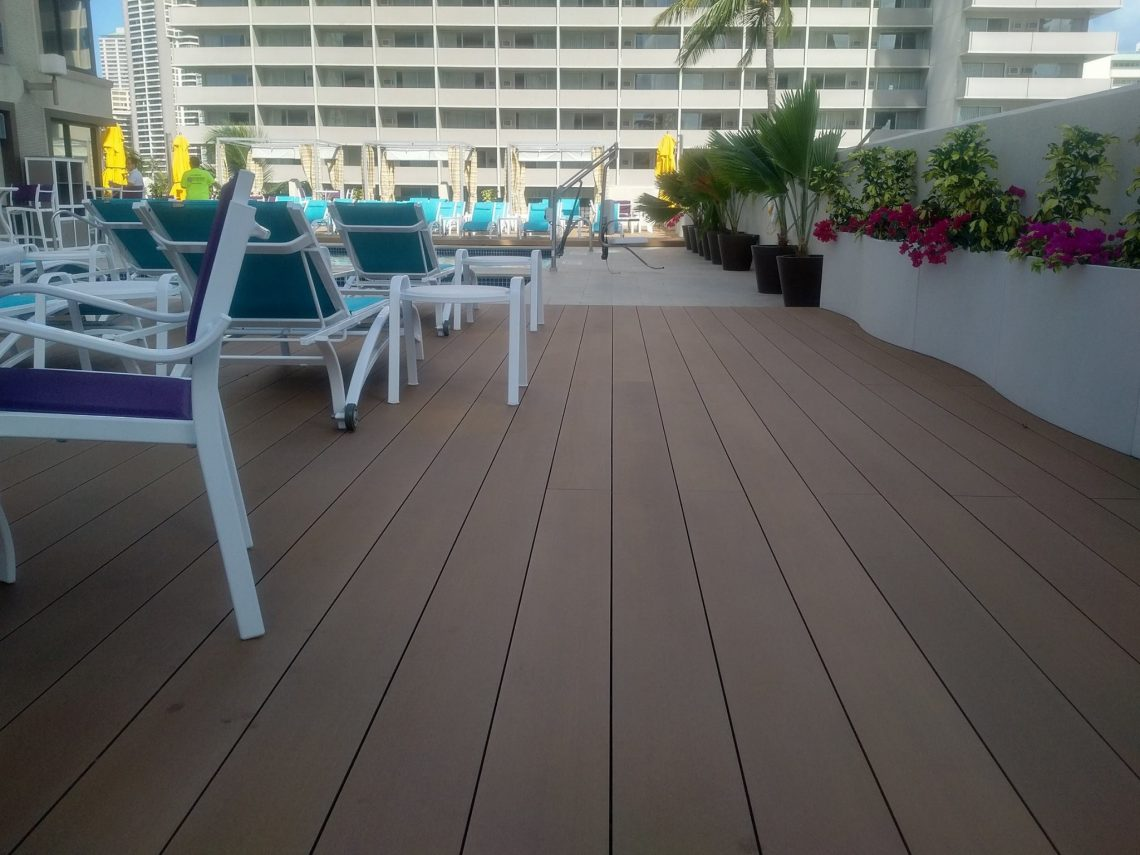 Hotel Terrace Decking with Resysta